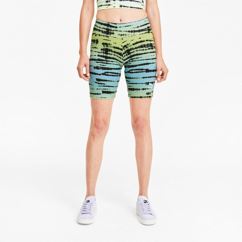 Изображение Puma Велосипедные шорты Tie Dye All-Over Printed Short Women's Tights #1