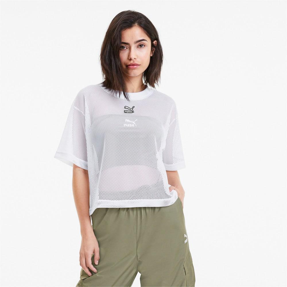 Görüntü Puma CLASSICS Mesh Kadın T-Shirt #1