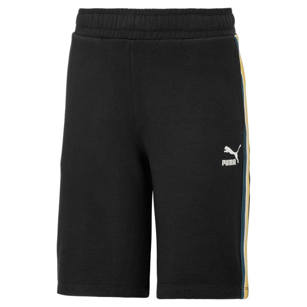 Изображение Puma Шорты Tape Kids' Sweat Shorts #1: Puma Black