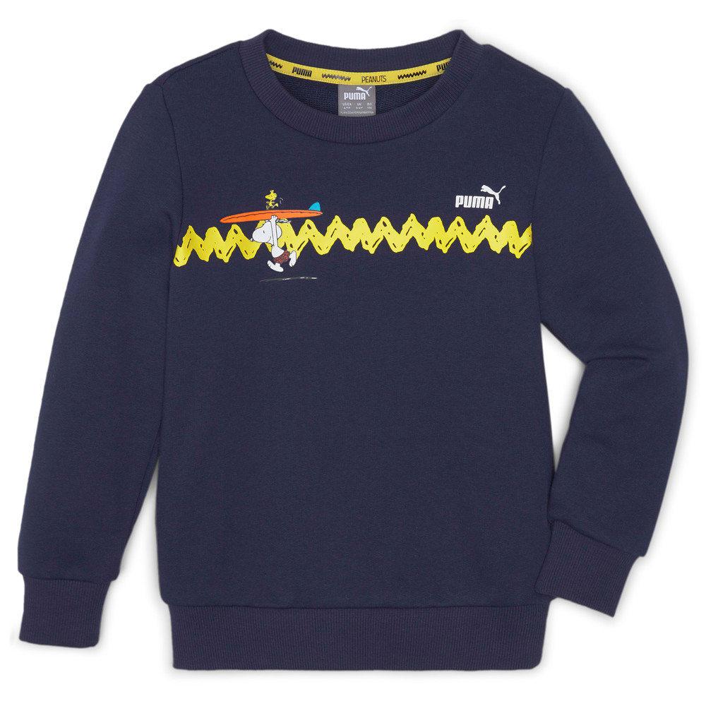 Изображение Puma Детская толстовка PUMA x PEANUTS Crew Neck Kids' Sweater #1