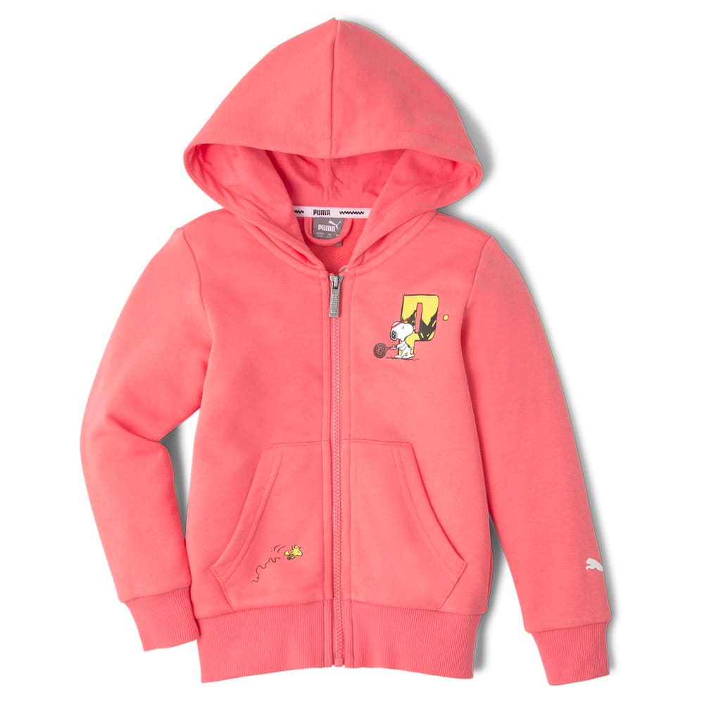 Изображение Puma Детская толстовка PUMA x PEANUTS Full-Zip Kids' Hoodie #1