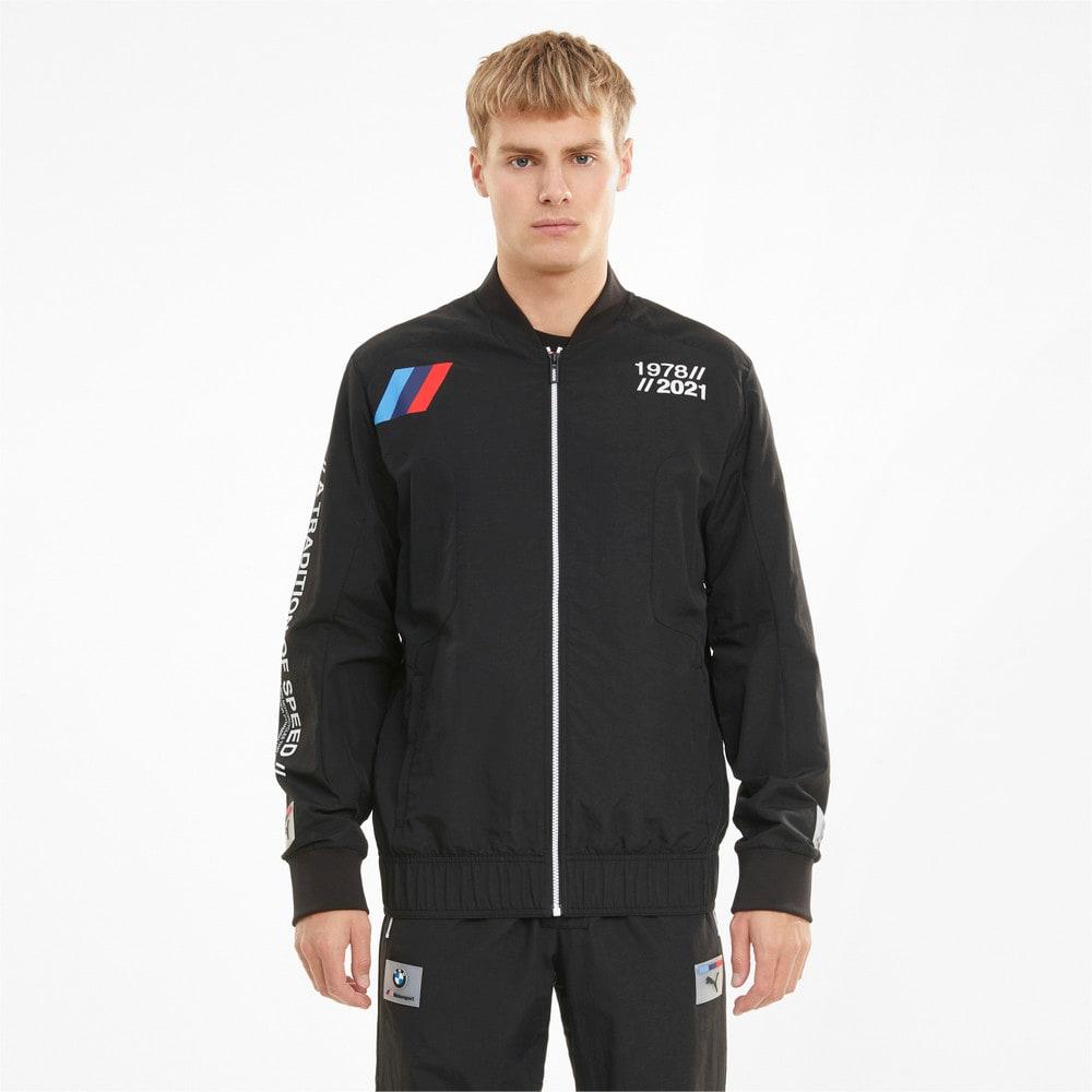 Изображение Puma Олимпийка BMW M Motorsport Woven Men's Street Jacket #1: Puma Black