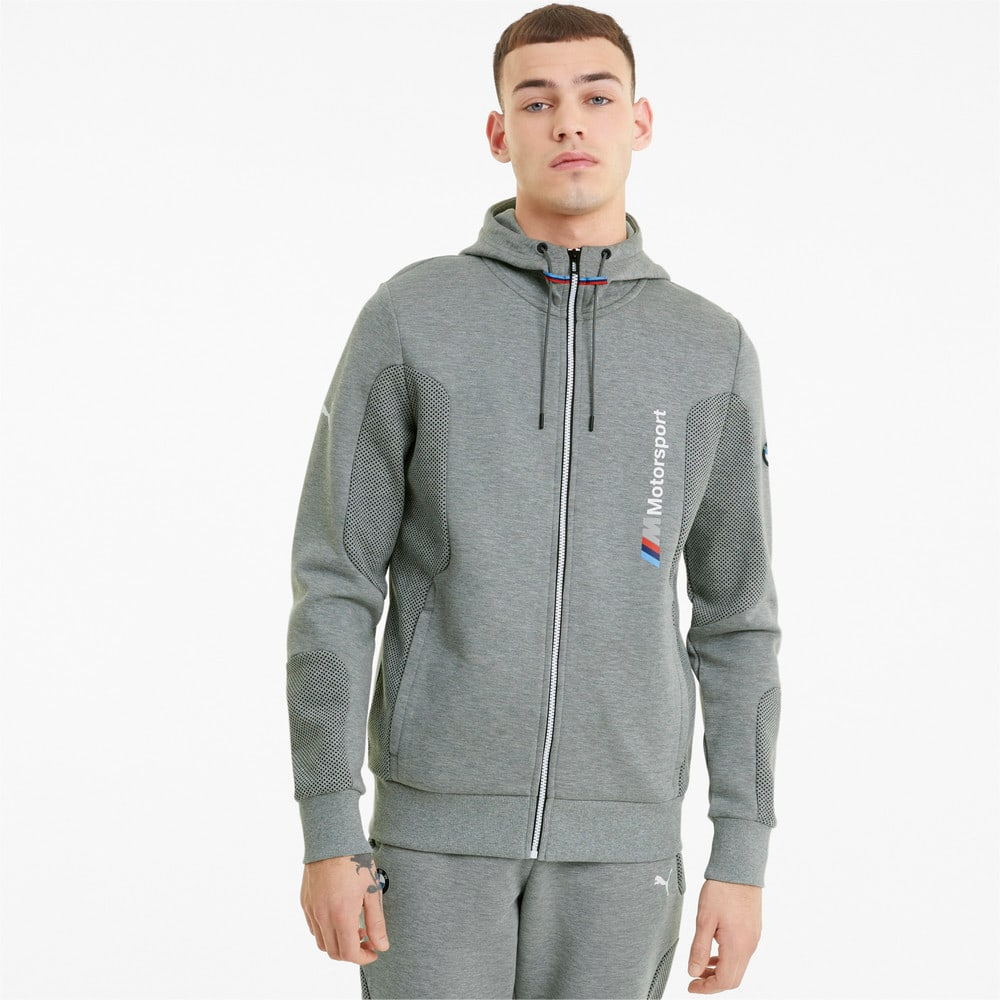 Зображення Puma Толстовка BMW M Motorsport Hooded Men's Sweat Jacket #1