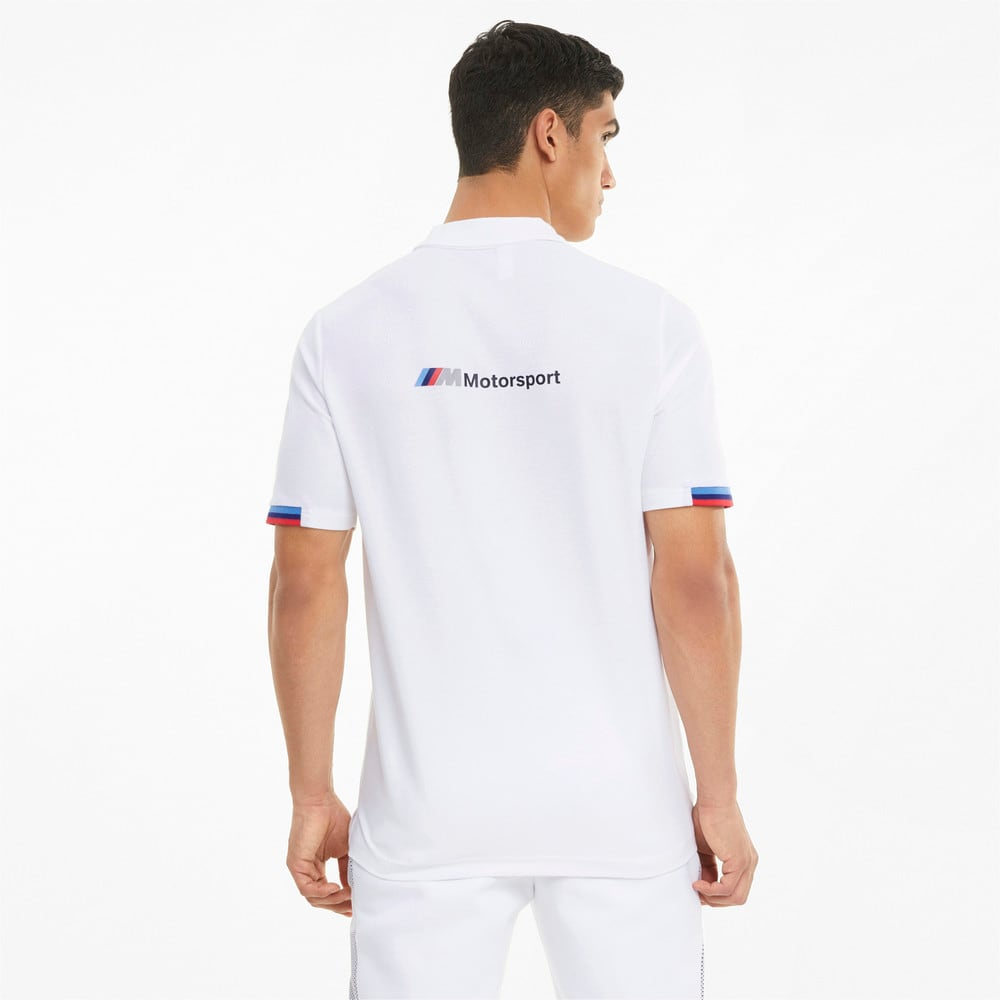Зображення Puma Поло BMW M Motorsport Men's Polo Shirt #2: Puma White