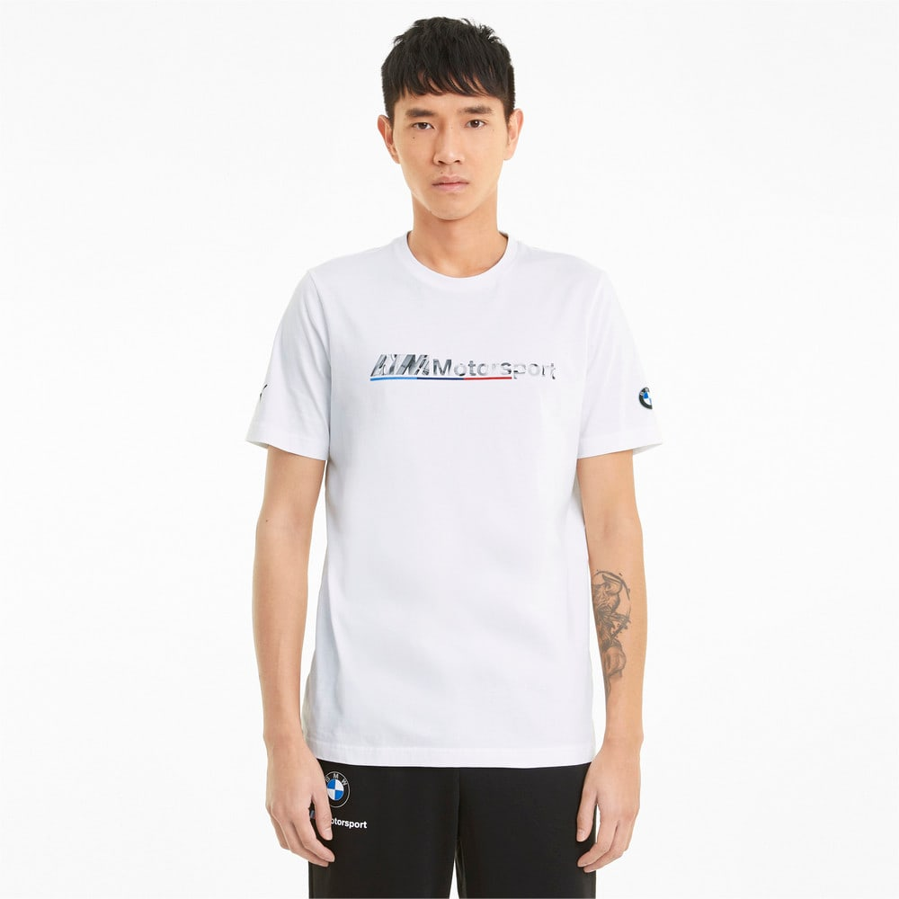 Зображення Puma Футболка BMW M Motorsport Logo Men's Tee #1
