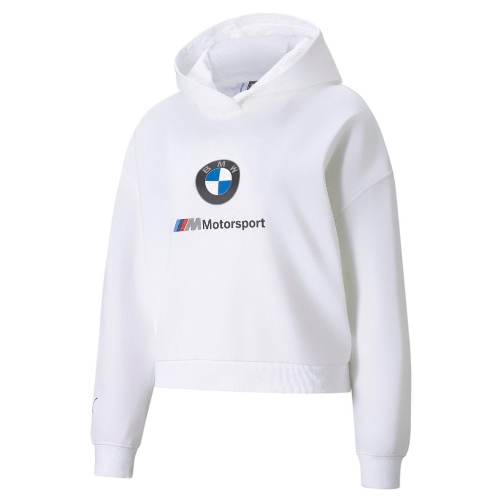 Görüntü Puma BMW M Motorsport ESSENTIALS Kadın Kapüşonlu Sweatshirt #1