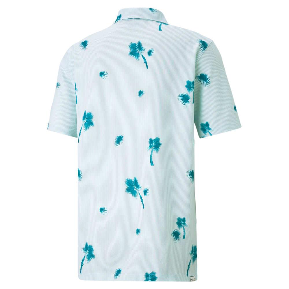 Image Puma Palmetto Seersucker Men's Golf Polo Shirt #2