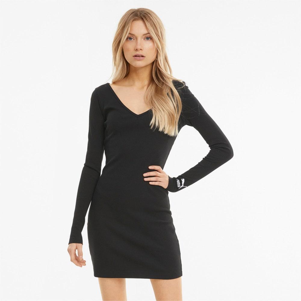 Изображение Puma Платье Classics Ribbed Bodycon Women's Dress #1