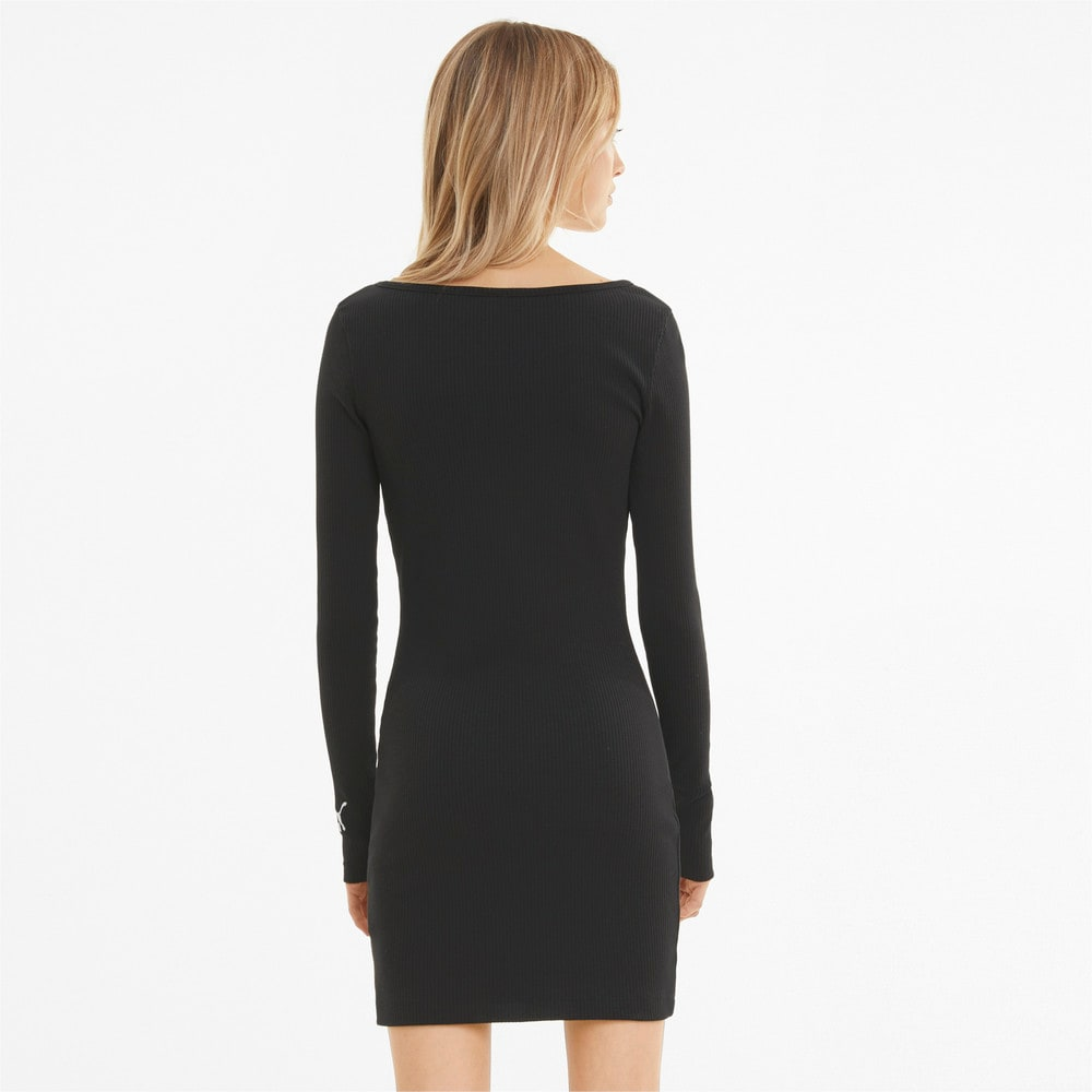 Изображение Puma Платье Classics Ribbed Bodycon Women's Dress #2