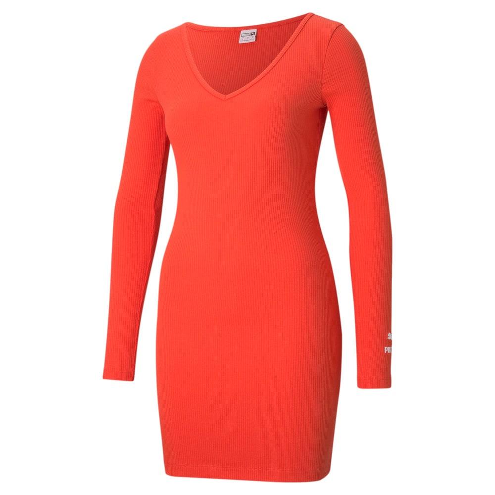 Image Puma Classics Ribbed Bodycon Women's Dress #1