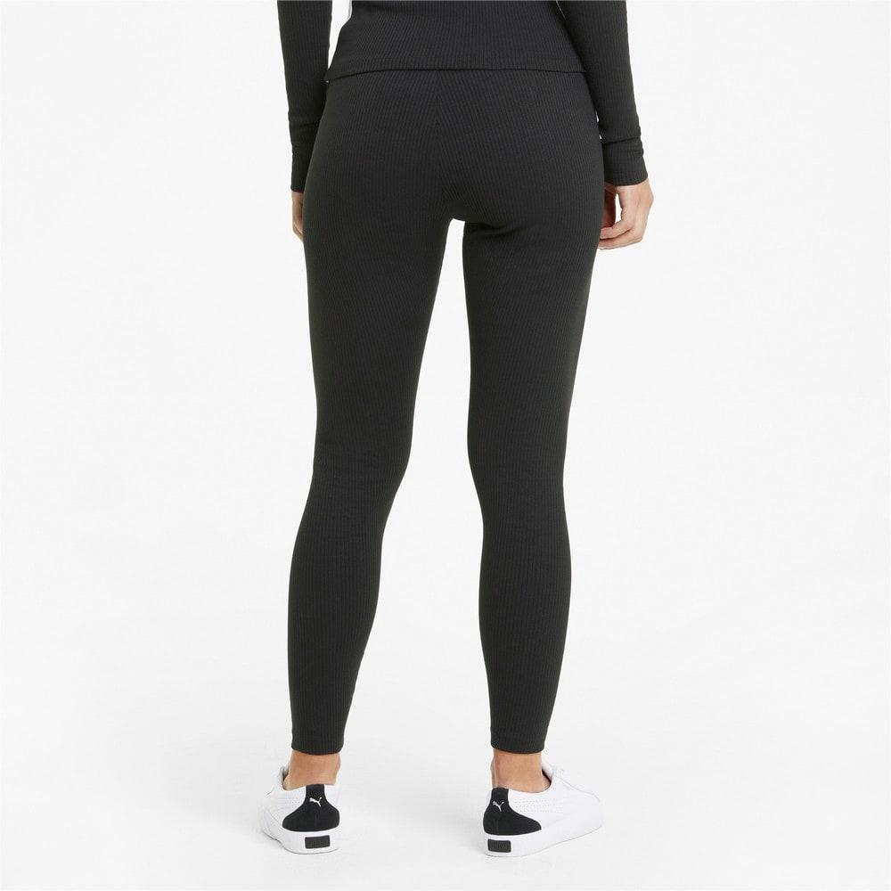 Imagen PUMA Leggings con cintura alta acanalada para mujer Classics #2