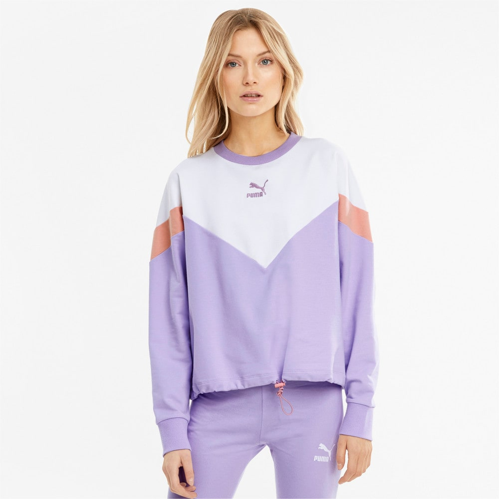 Image Puma Iconic MCS Cropped Crew Neck Women's Sweatshirt #1
