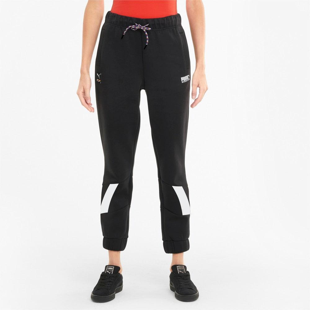 Imagen PUMA Pantalones deportivos de tejido de punto doble para mujer PUMA International #1
