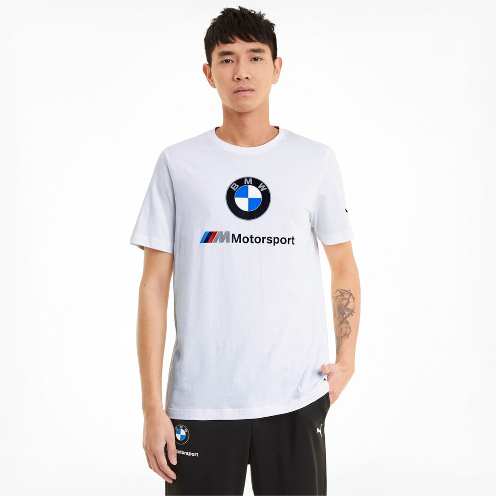 Зображення Puma Футболка BMW M Motorsport Essentials Logo Men's Tee #1