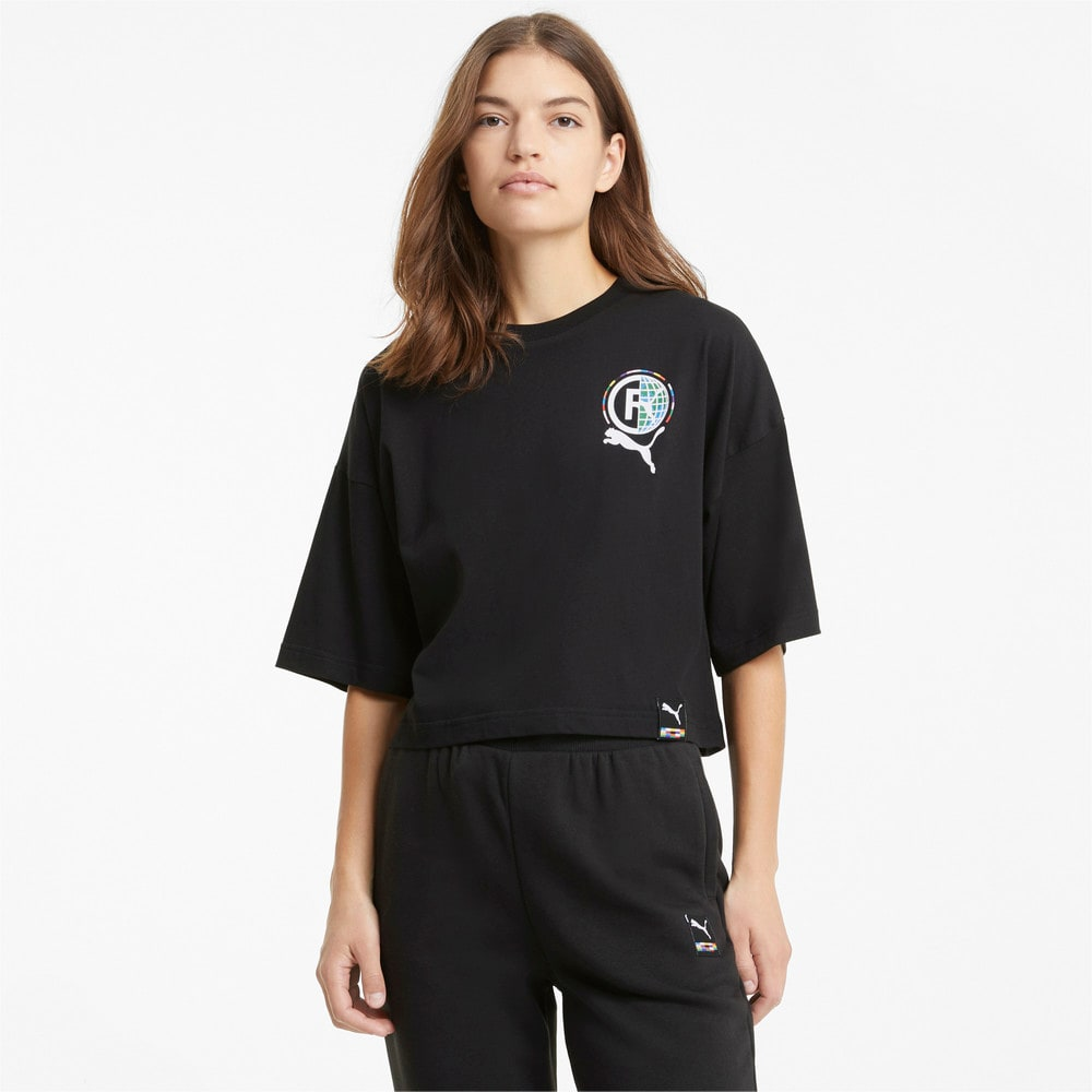 Imagen PUMA Camiseta con estampado para mujer PUMA International #1