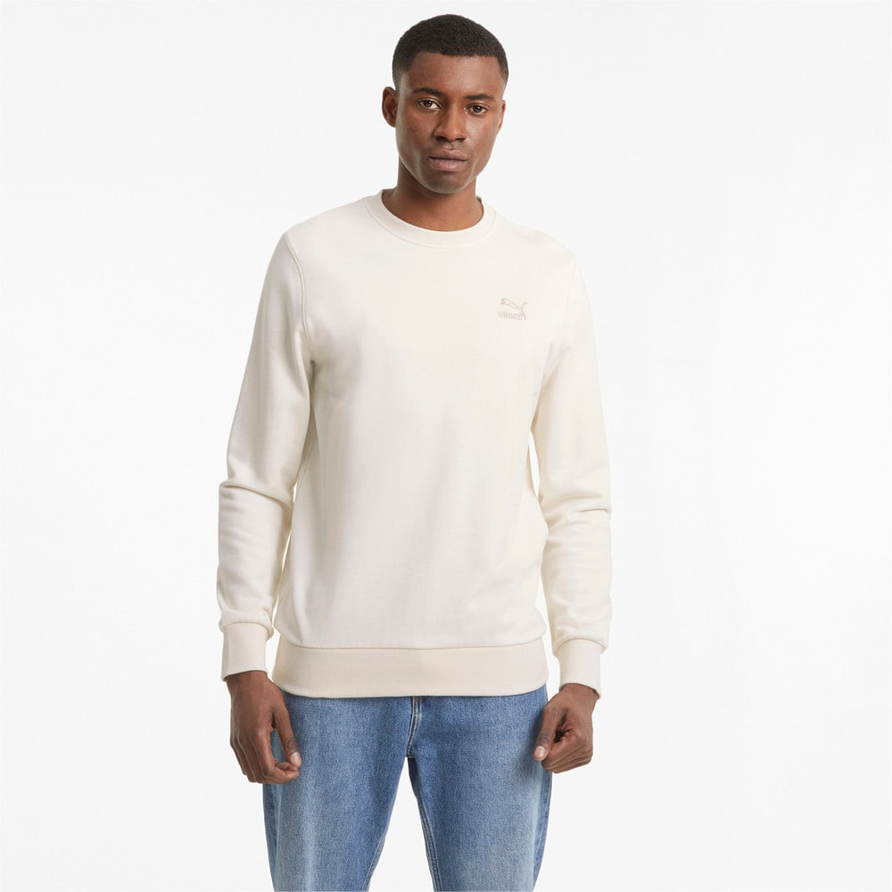 Изображение Puma Толстовка Classics Embro Crew Neck Men's Sweater #1