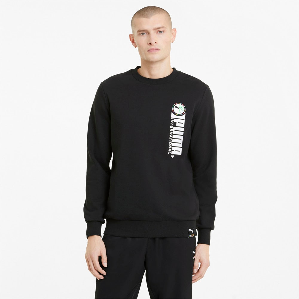 Изображение Puma Толстовка PUMA International Graphic Crew Neck Men's Sweater #1