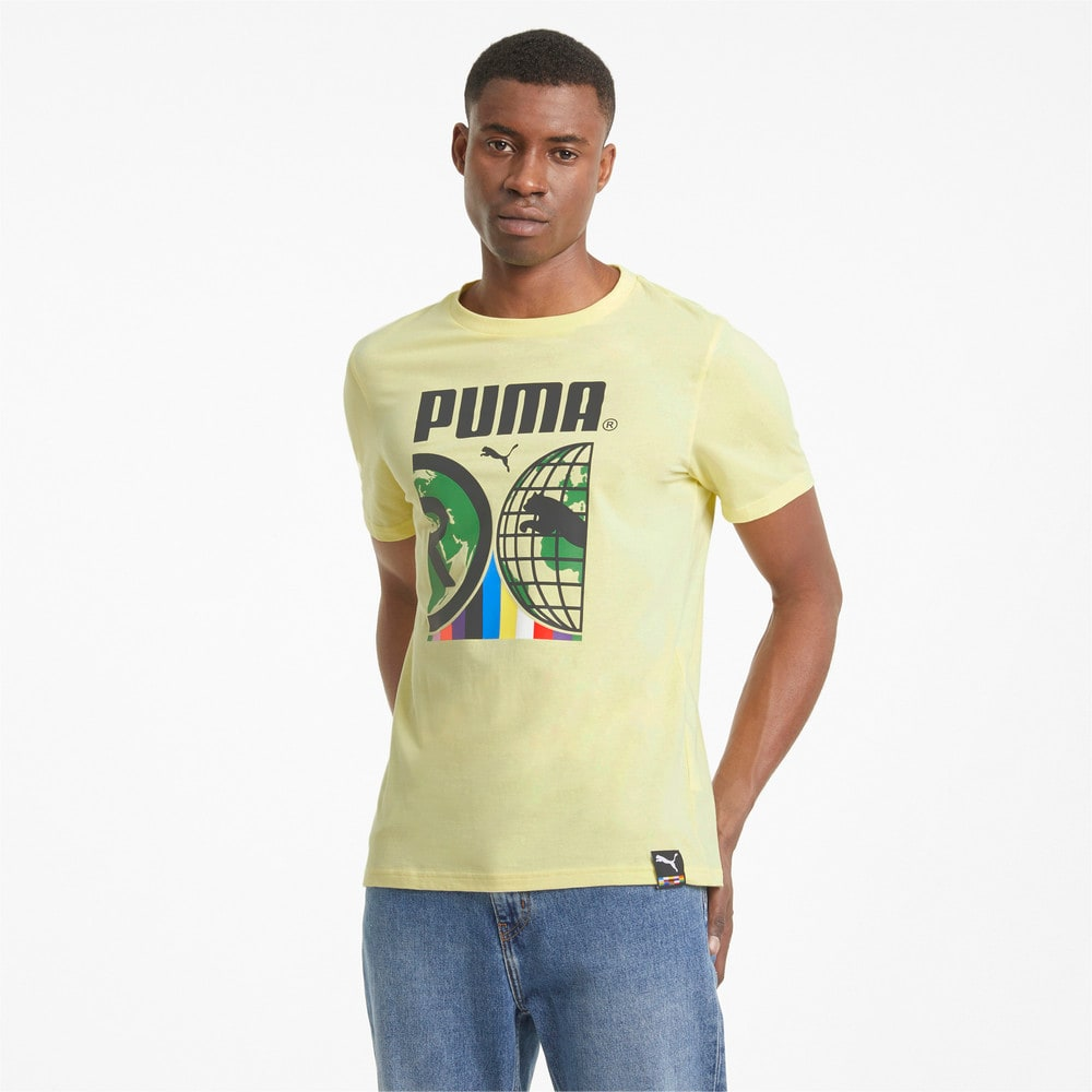Изображение Puma Футболка PUMA International Men's Tee #1: Yellow Pear