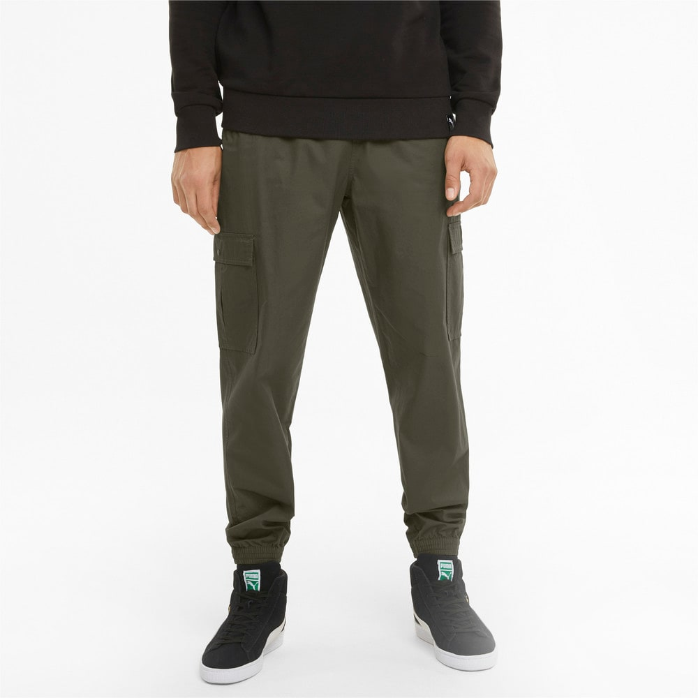 Изображение Puma Штаны Classics Cotton Twill Men's Sweatpants #1: Forest Night