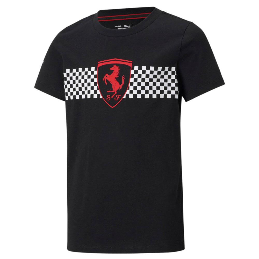 Изображение Puma Детская футболка Scuderia Ferrari Race Chequered Flag Youth Tee #1