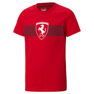 Изображение Puma Детская футболка Scuderia Ferrari Race Chequered Flag Youth Tee