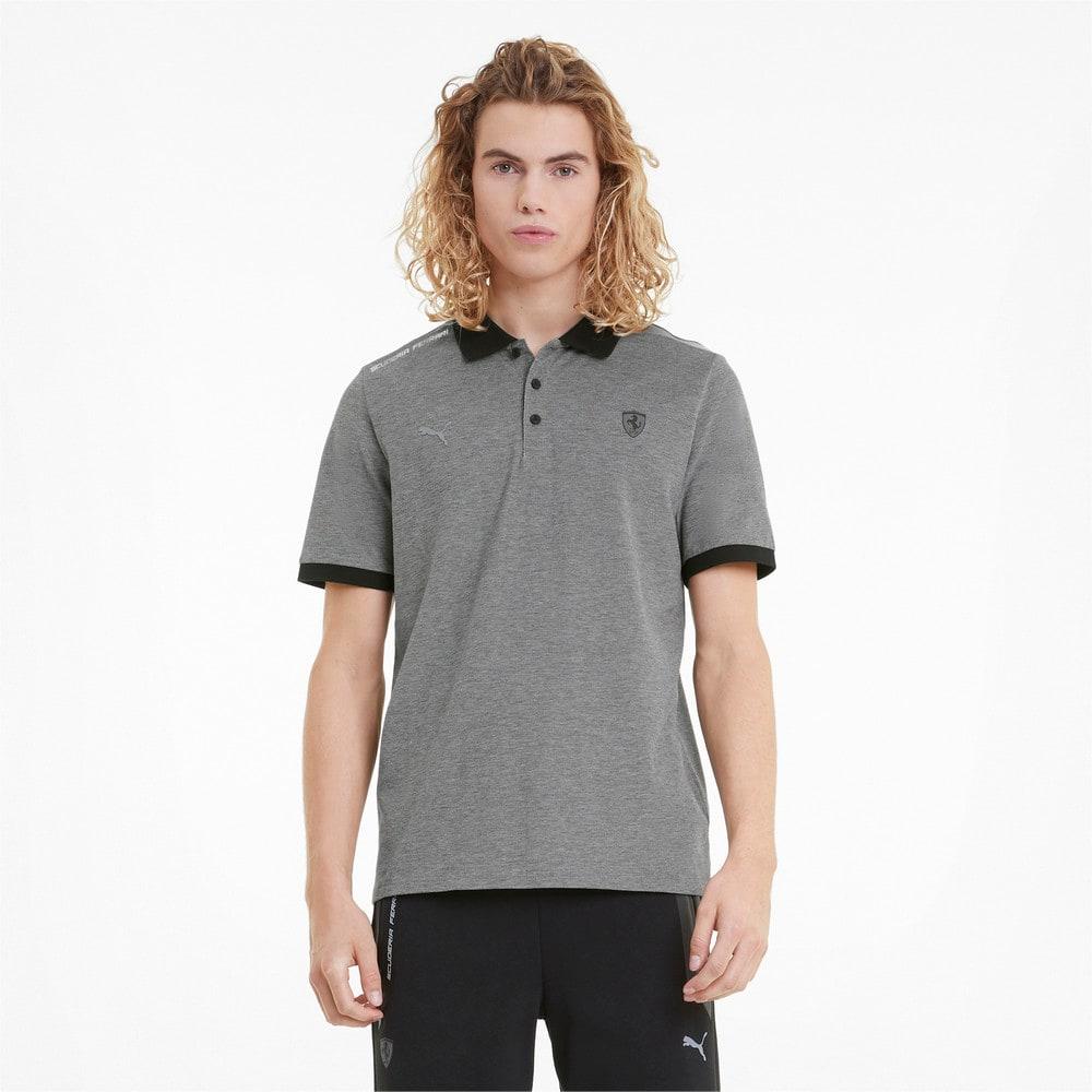 Зображення Puma Поло Scuderia Ferrari Style Two-Tone Men's Polo Shirt #1: Puma Black