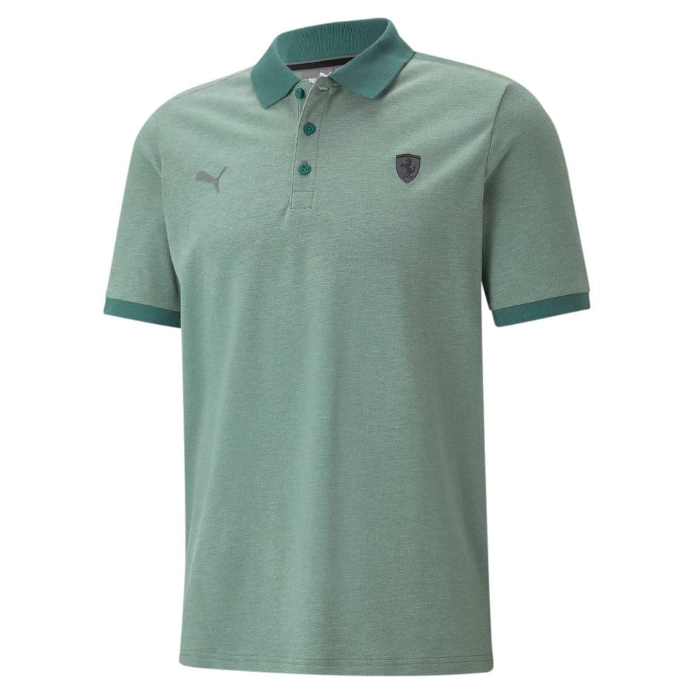 Изображение Puma Поло Scuderia Ferrari Style Two-Tone Men's Polo Shirt #1: Blue Spruce