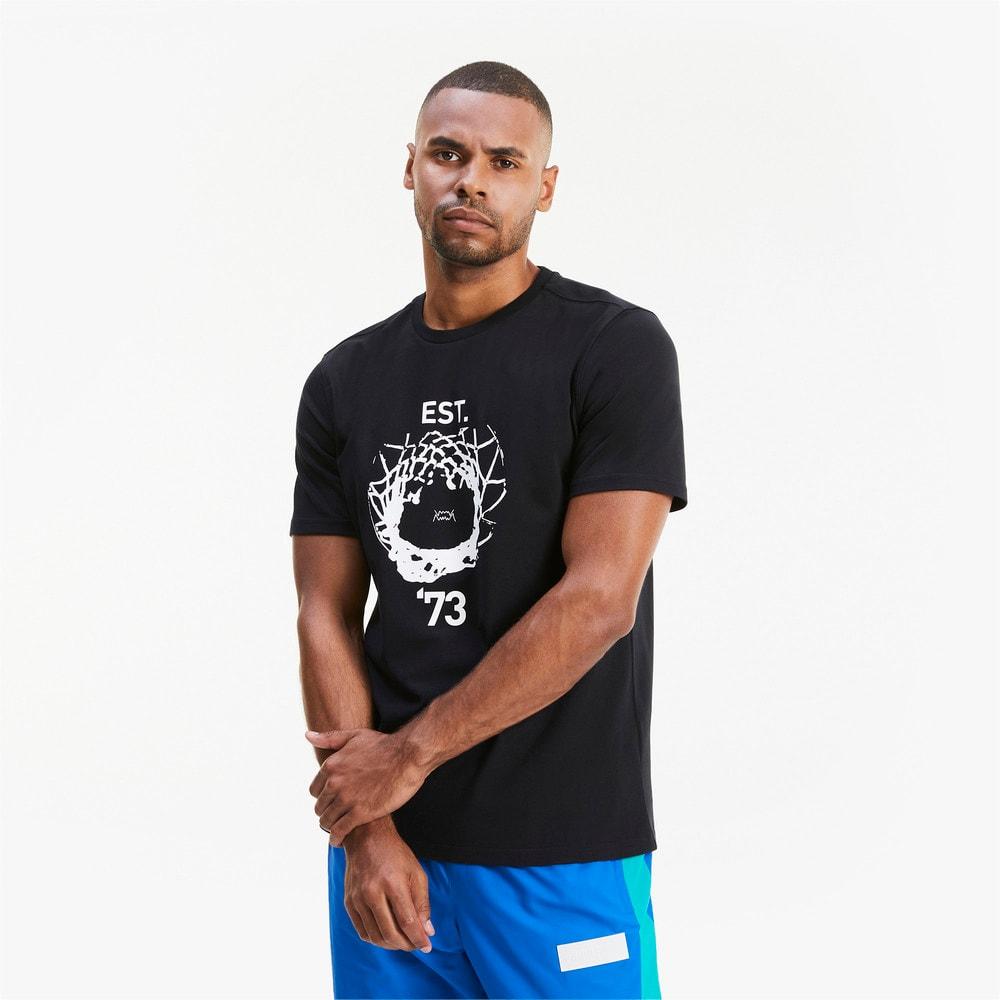 Изображение Puma Футболка Parquet Street Graphic Men's Basketball Tee #1: Puma Black