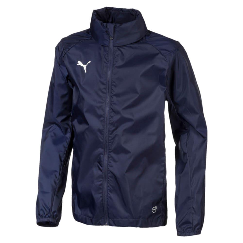 Изображение Puma Спортивный плащ-дождевик LIGA Training Full Zip Kids' Rain Jacket #1