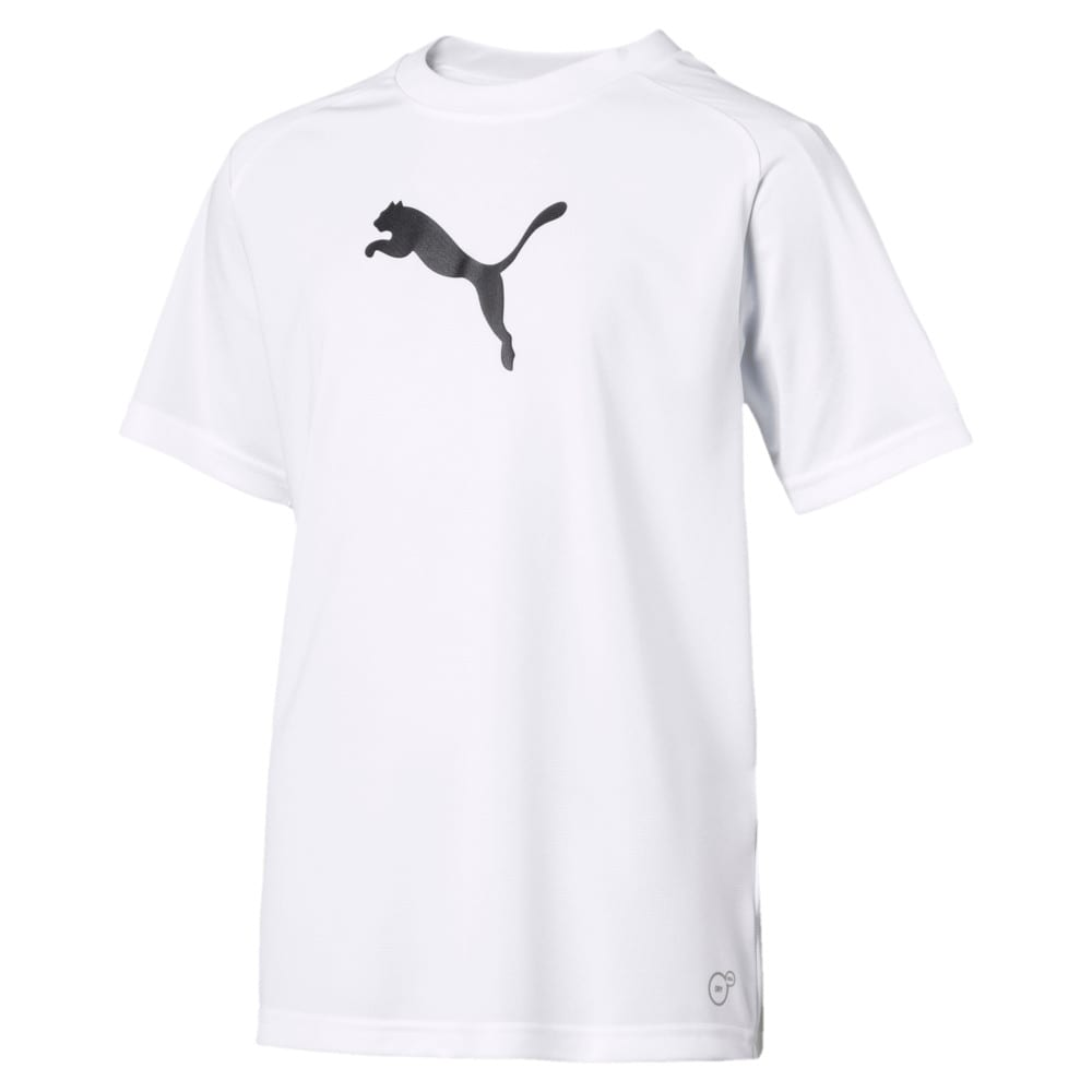 Изображение Puma Детская футболка LIGA Sideline Kids' Tee #1: Puma White-Puma Black