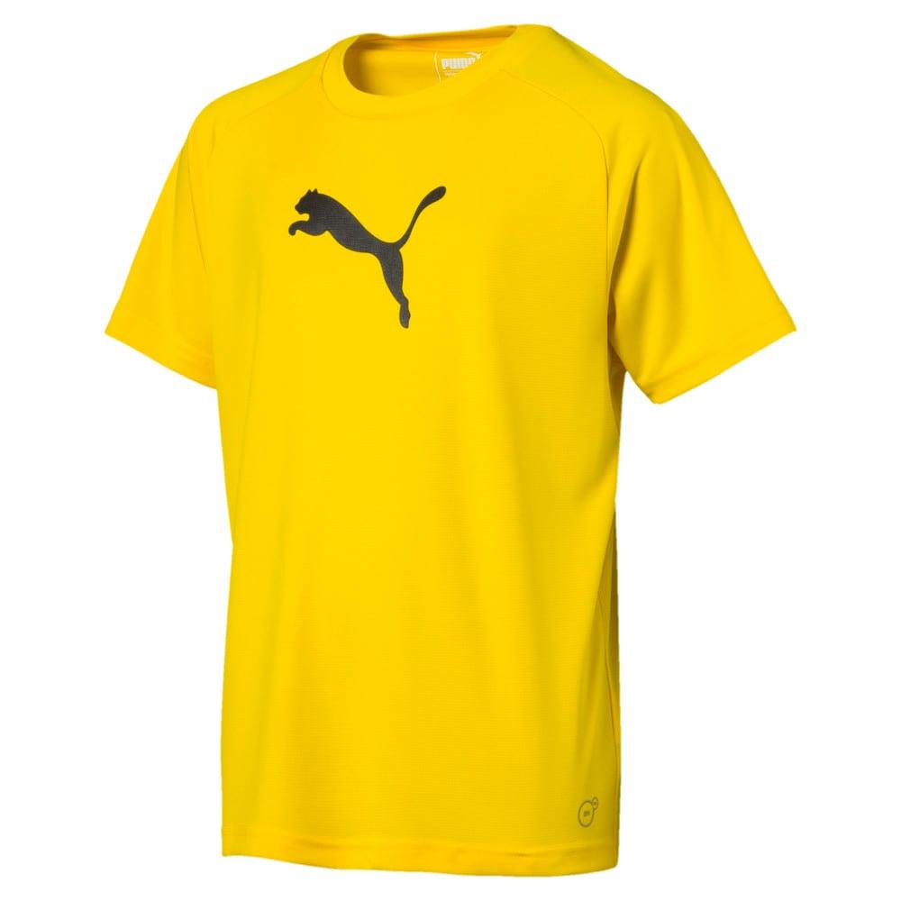 Зображення Puma Дитяча футболка LIGA Sideline Kids' Tee #1: Cyber Yellow-Puma Black
