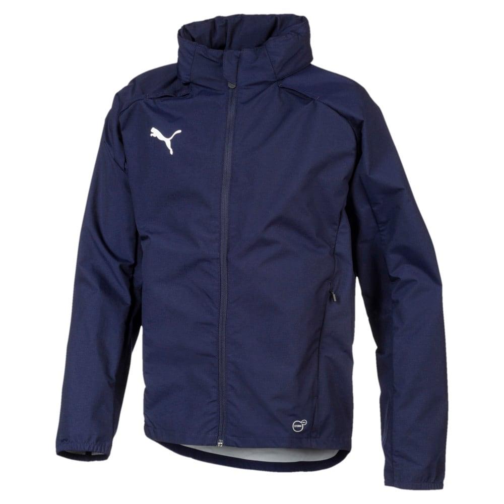 Зображення Puma Дитяча куртка Football Kids' LIGA Training Rain Jacket #1: Peacoat-Puma White
