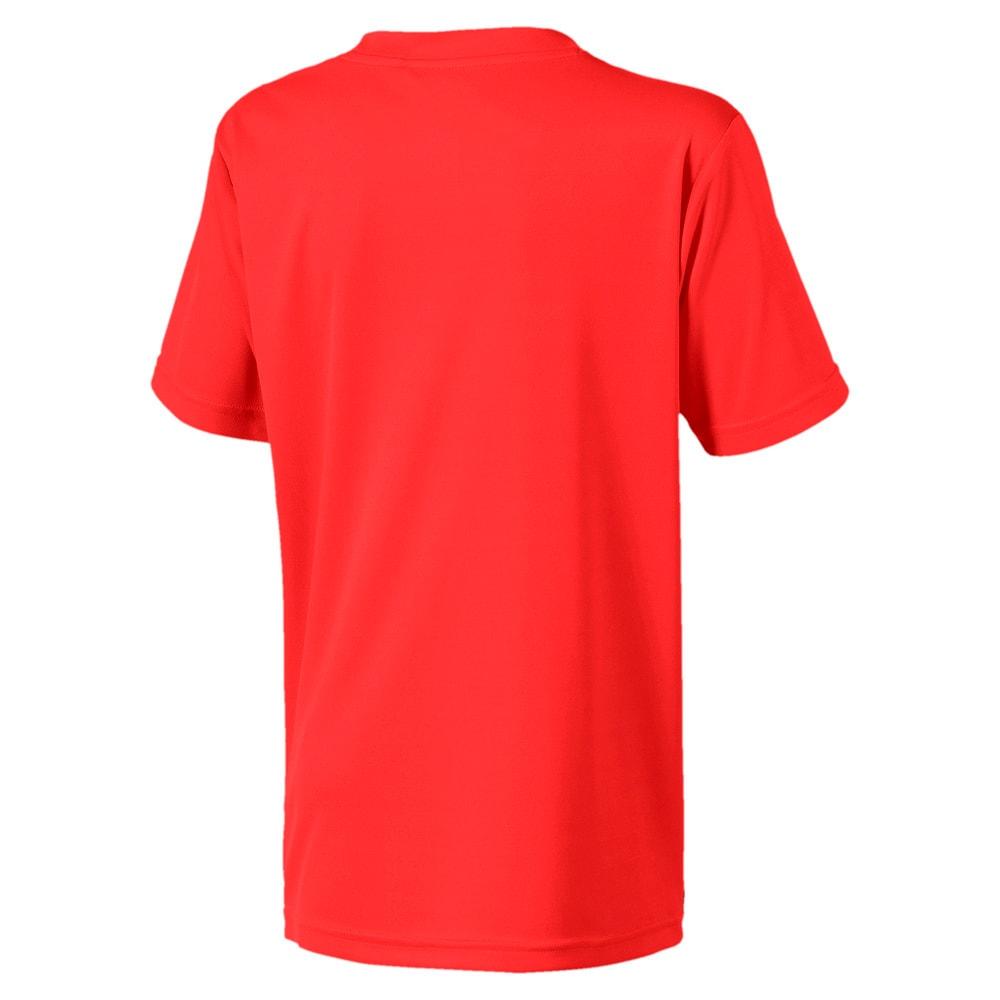 Зображення Puma Дитяча футболка ftblNXT Graphic Shirt Core J #2: Nrgy Red-Puma Black