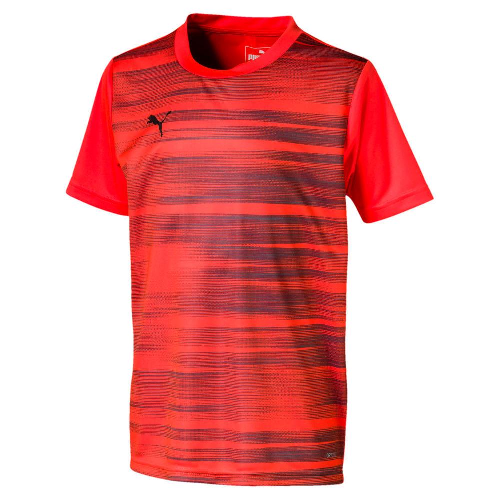 Зображення Puma Дитяча футболка ftblNXT Graphic Shirt Core J #1: Nrgy Red-Puma Black
