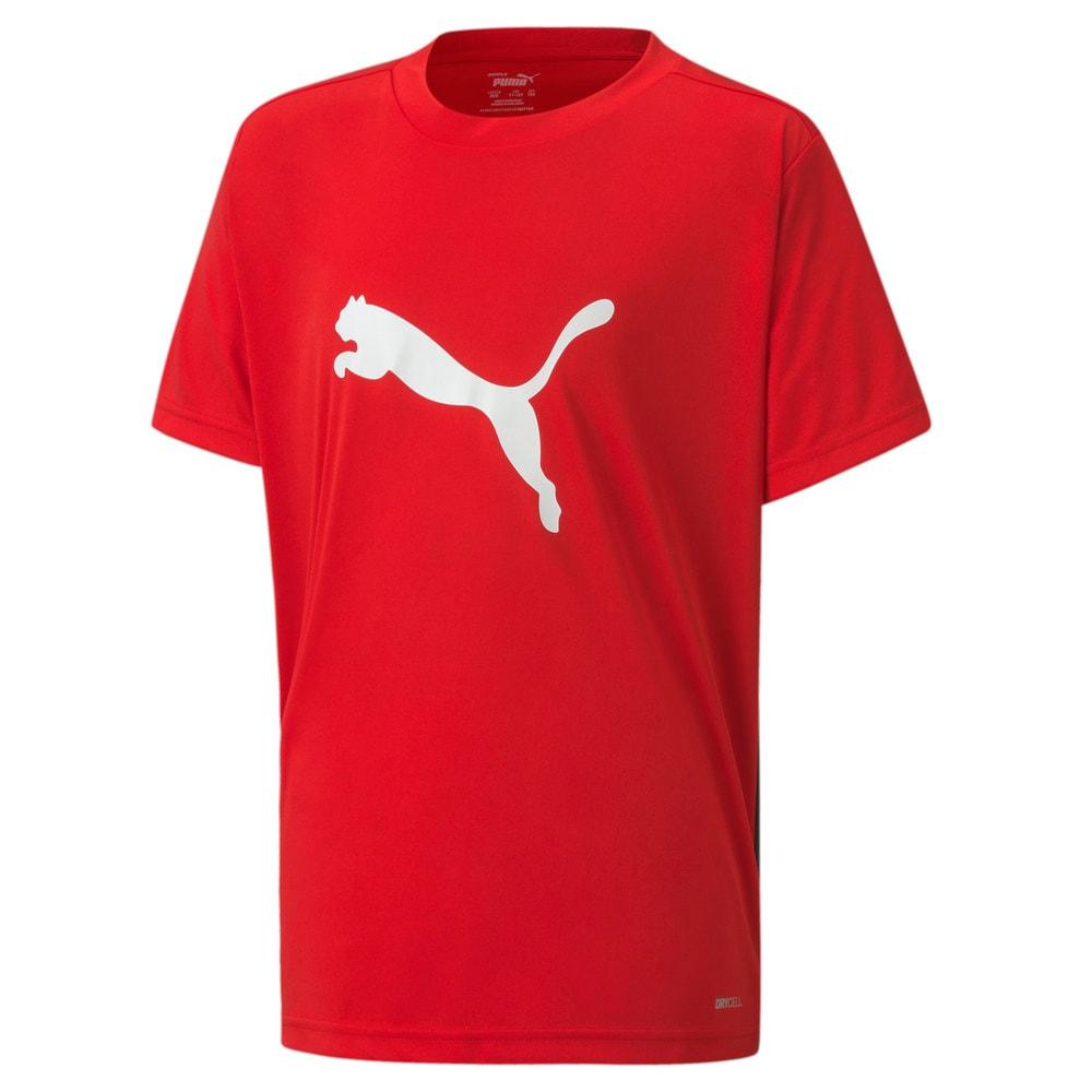 Изображение Puma Детская футболка ftblPLAY Logo Tee Jr #1