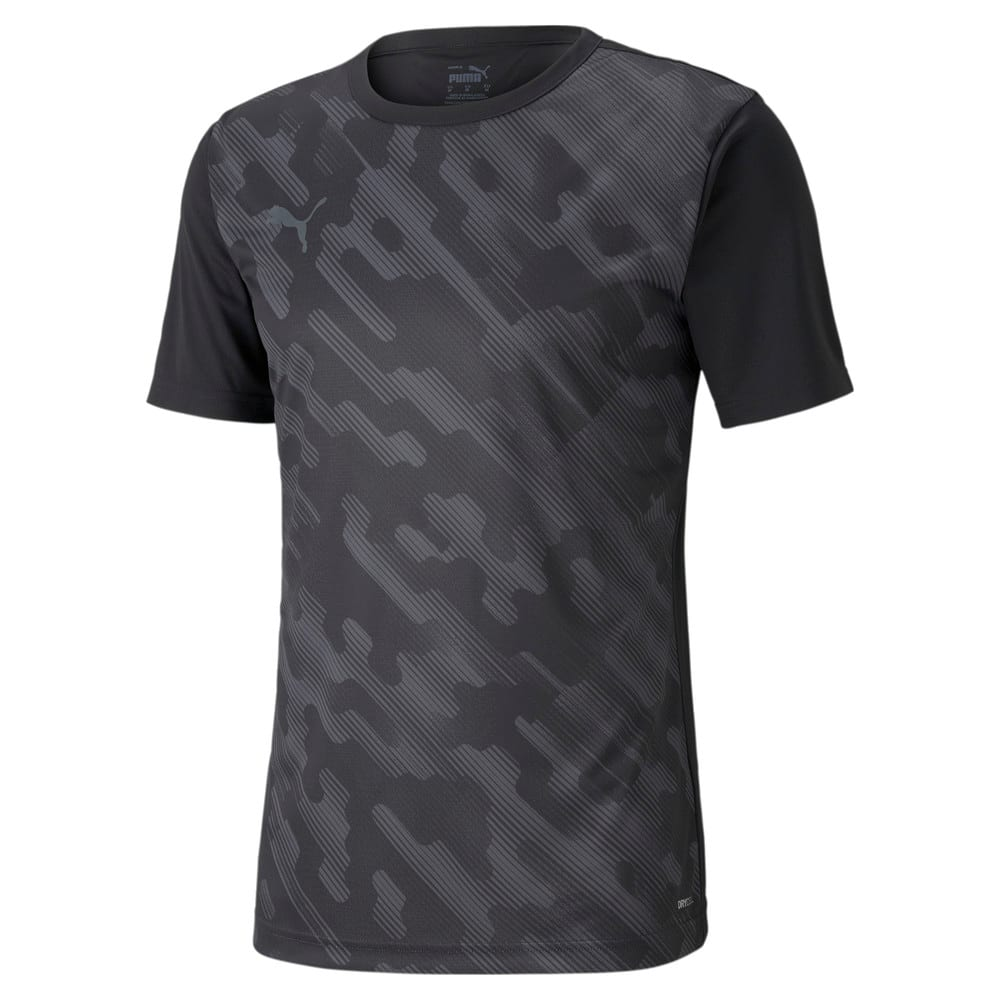 Изображение Puma Футболка individualRISE Graphic Men's Football Tee #1: Puma Black-Asphalt