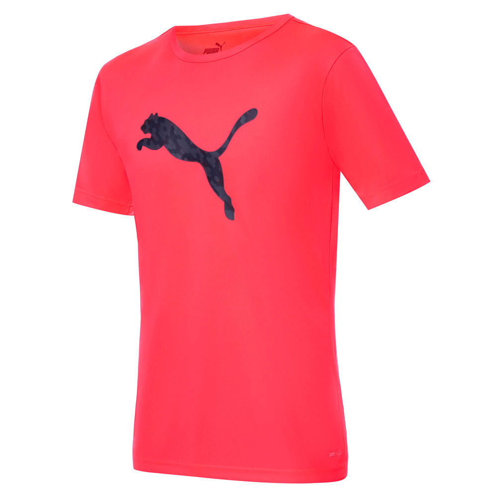 Зображення Puma Футболка individualRISE Logo Men's Football Tee #1: Sunblaze-Puma Black