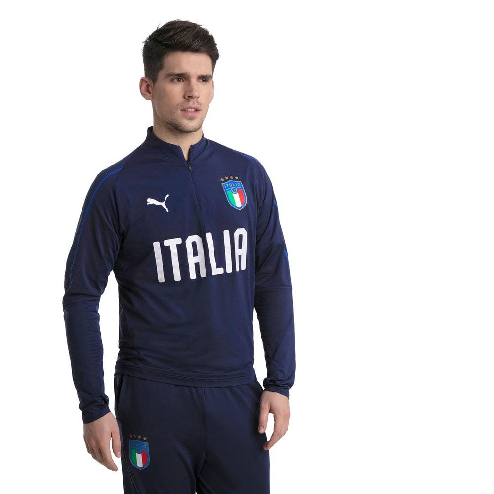 Görüntü Puma FIGC ITALIA Çeyrek Fermuarlı Antrenman Sweatshirt #2