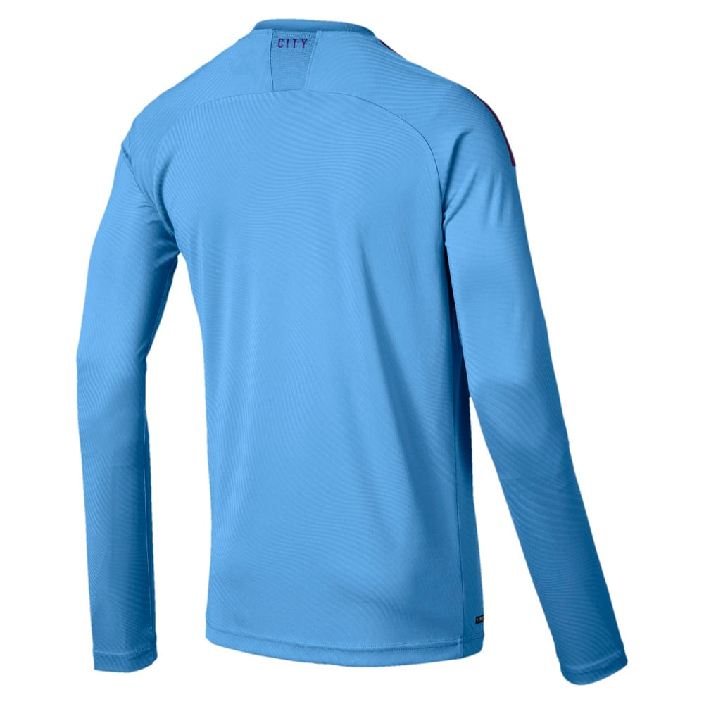 Image Puma Man City Long Sleeve Men's Home Replica Jersey #2