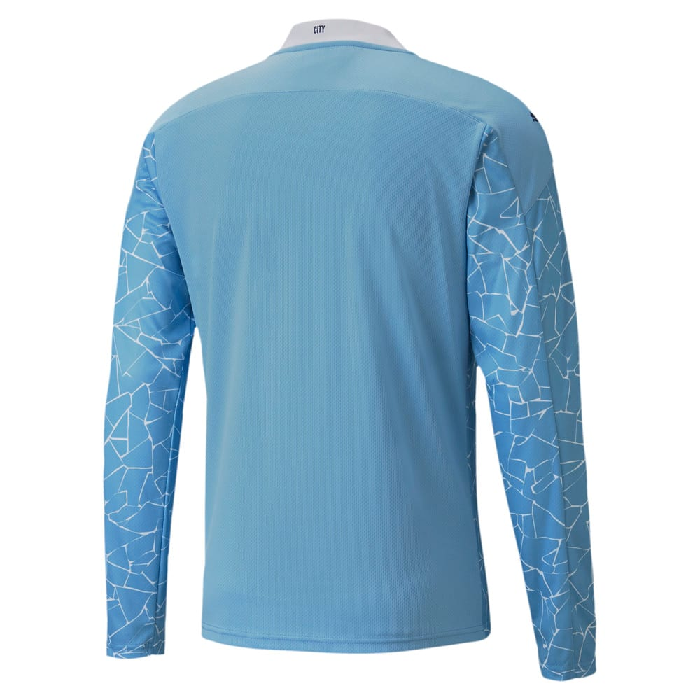 Image Puma Man City Home Replica Long Sleeve Men's Jersey #2