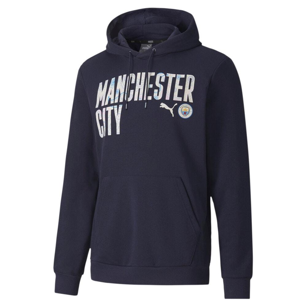 Imagen PUMA Polerón de fútbol con capucha ftblCORE Manchester City para hombre #1