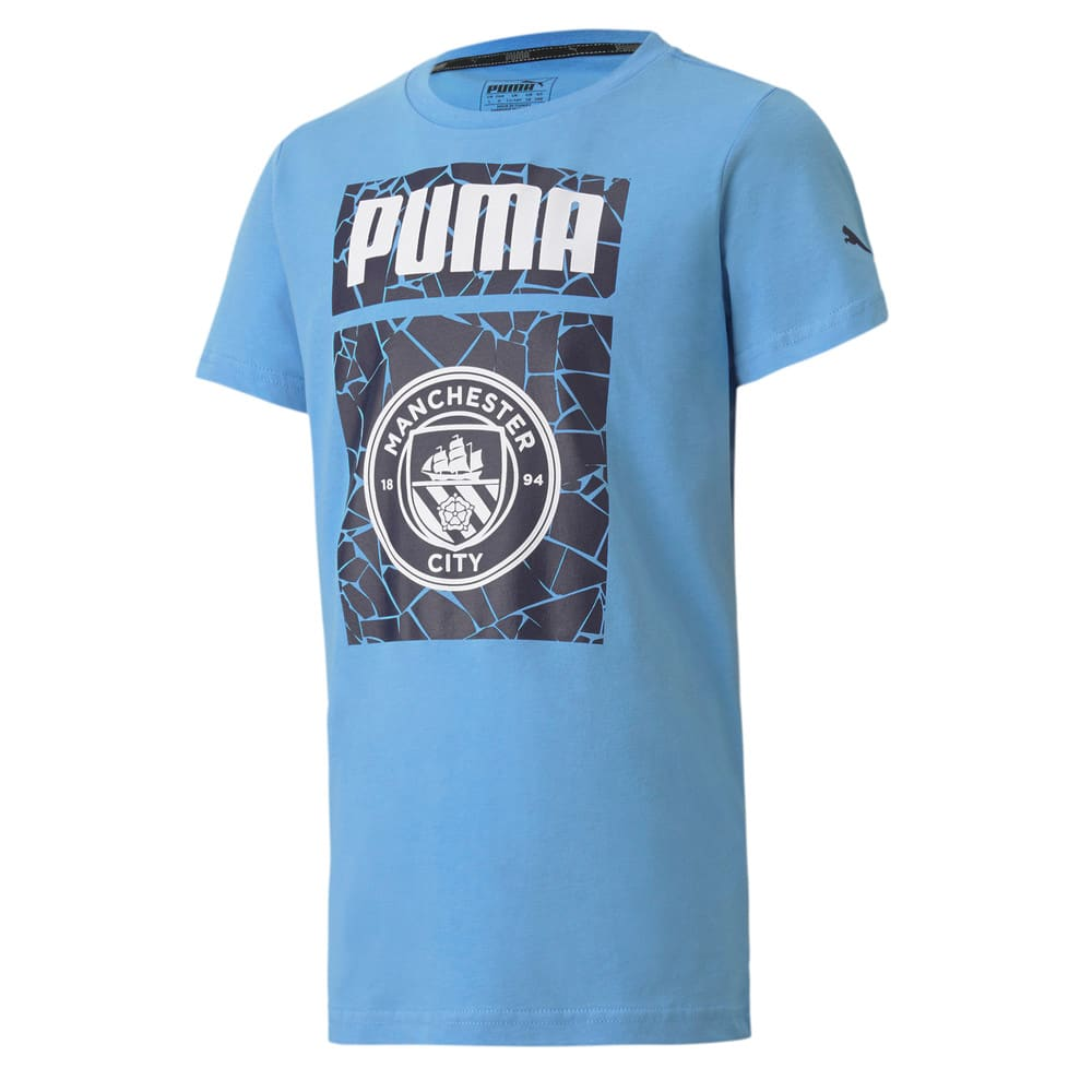 Изображение Puma Детская футболка MCFC ftblCore Graphic Tee Jr #1