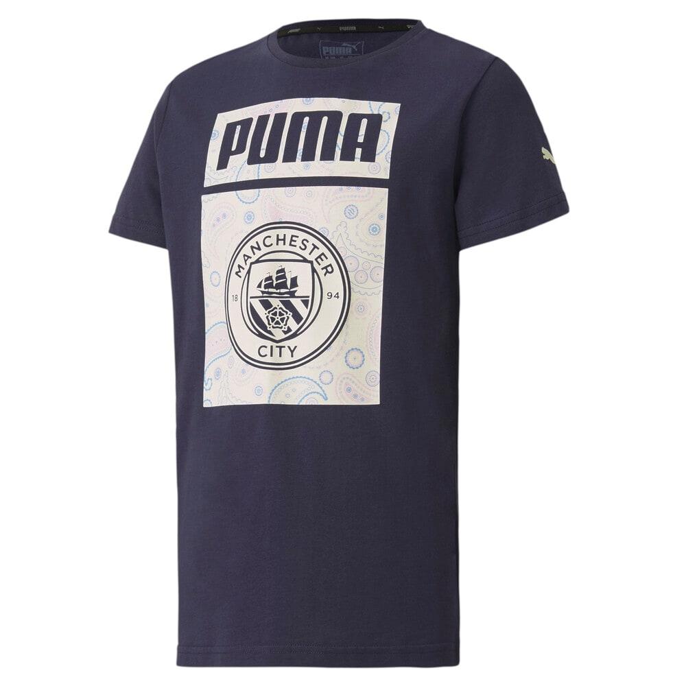 Изображение Puma Детская футболка MCFC ftblCore Graphic Tee Jr #1