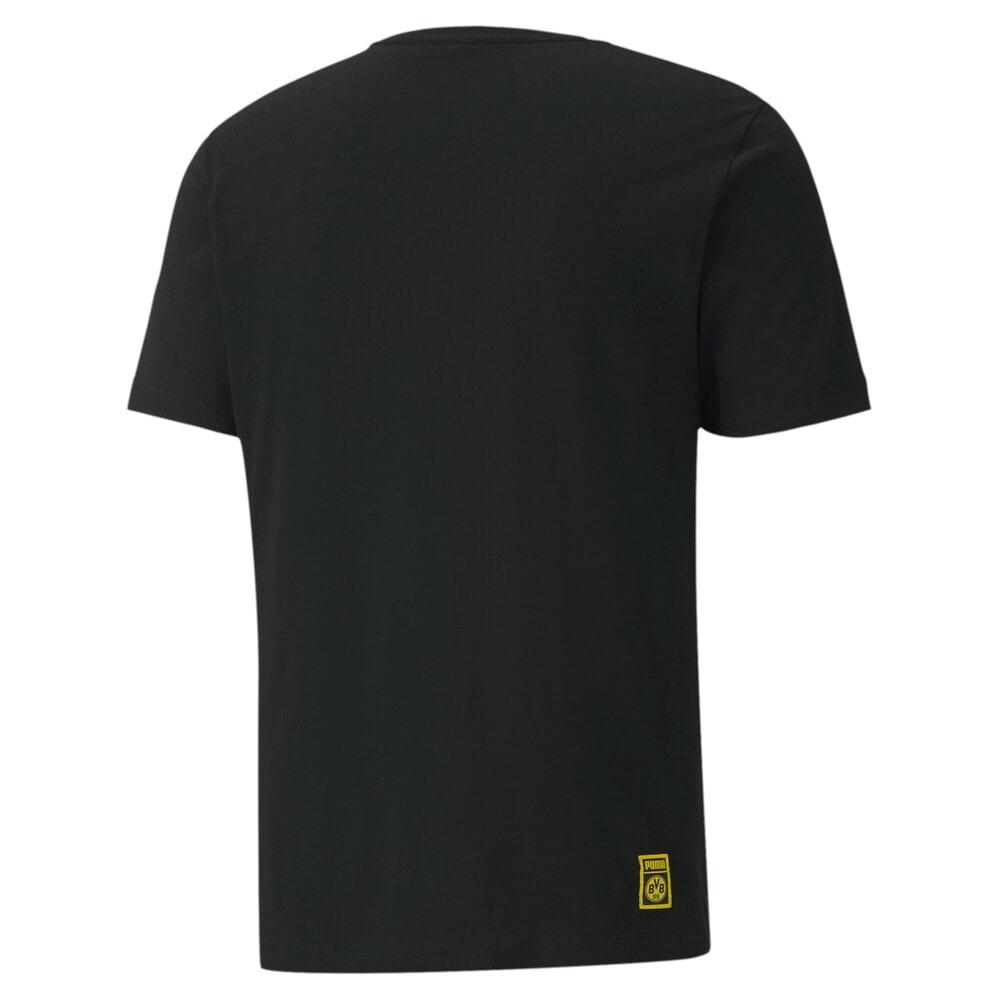Görüntü Puma BVB ftblCORE GRAPHIC Erkek Futbol T-shirt #2