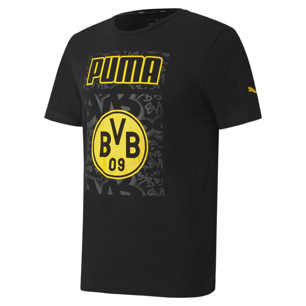 Görüntü Puma BVB ftblCORE GRAPHIC Erkek Futbol T-shirt #1