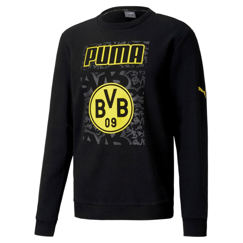 Imagen PUMA Polerón de fútbol ftblCORE con gráfica BVB para hombre #1
