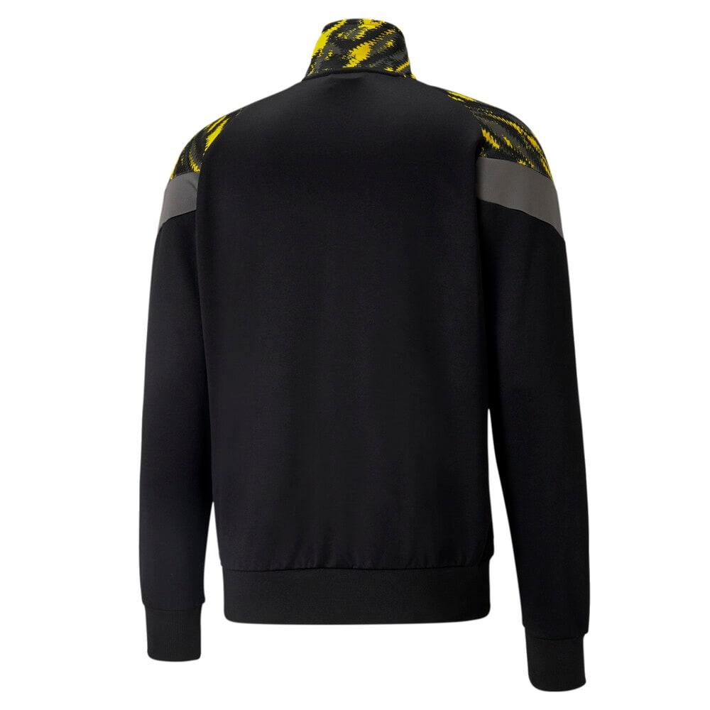 Изображение Puma Олимпийка BVB Iconic MCS Men's Football Track Jacket #2: Puma Black-Cyber Yellow