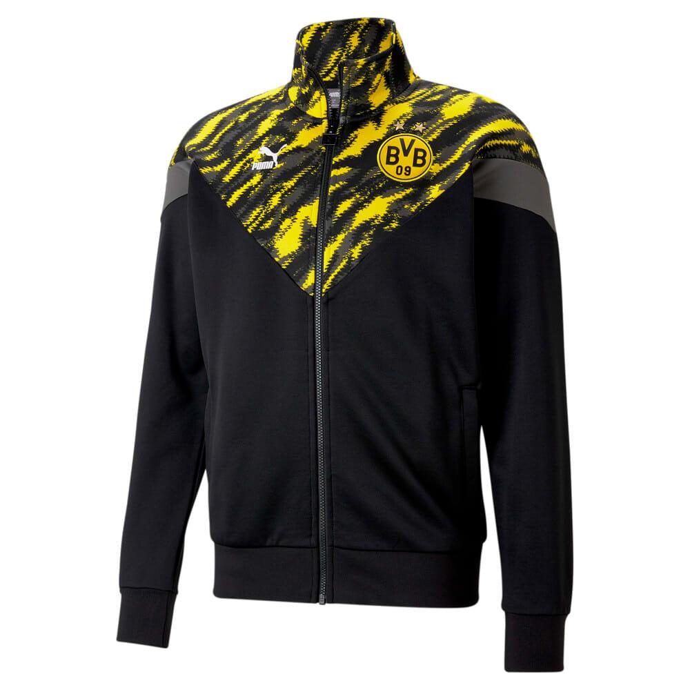 Изображение Puma Олимпийка BVB Iconic MCS Men's Football Track Jacket #1: Puma Black-Cyber Yellow