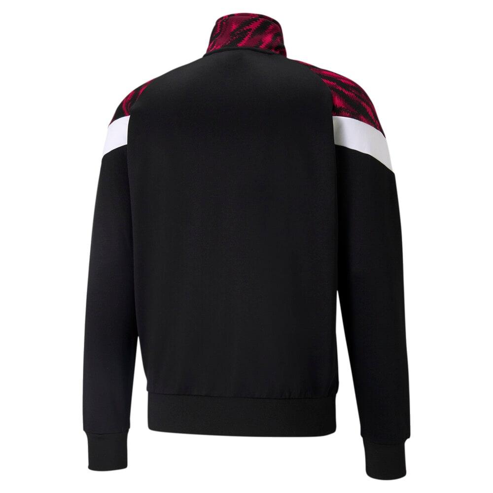 Изображение Puma Олимпийка ACM MCS Iconic Men's Football Track Jacket #2: Tango Red -Puma Black