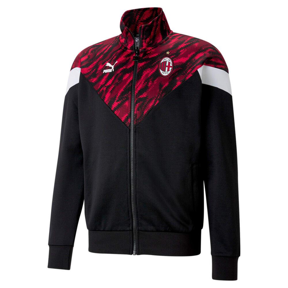 Изображение Puma Олимпийка ACM MCS Iconic Men's Football Track Jacket #1: Tango Red -Puma Black